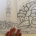 Hope page I Am So Many Things Colouring Book - Thea Muir
