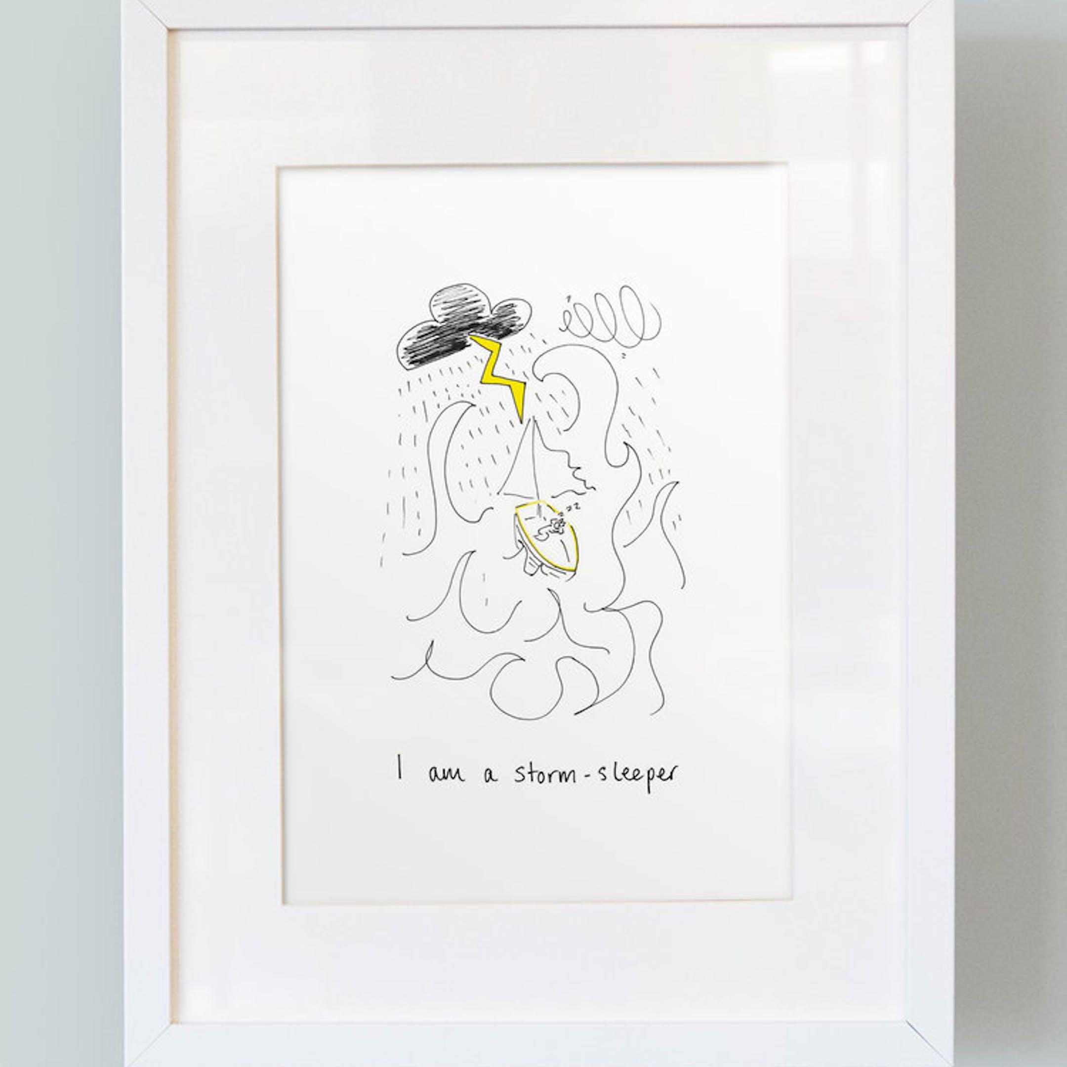 I Am A Storm Sleeper - Boys Print - SMT