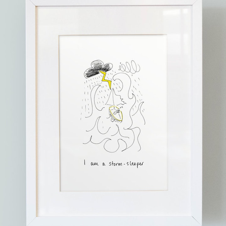 I Am A Storm Sleeper - Boys Print - SMT