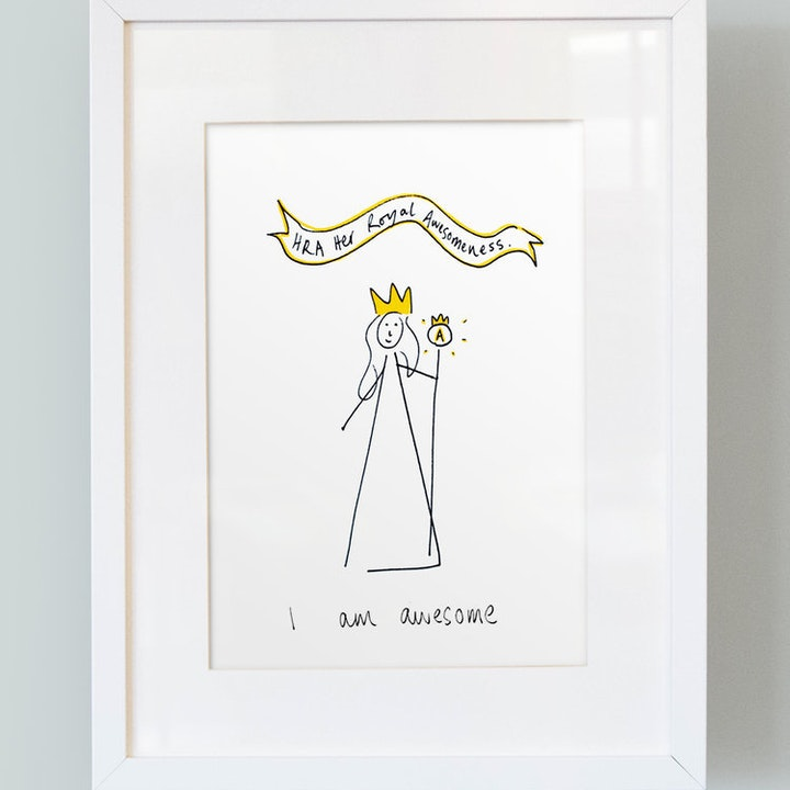 'I Am Awesome' -  Girl's Print - Thea Muir - So Many Things