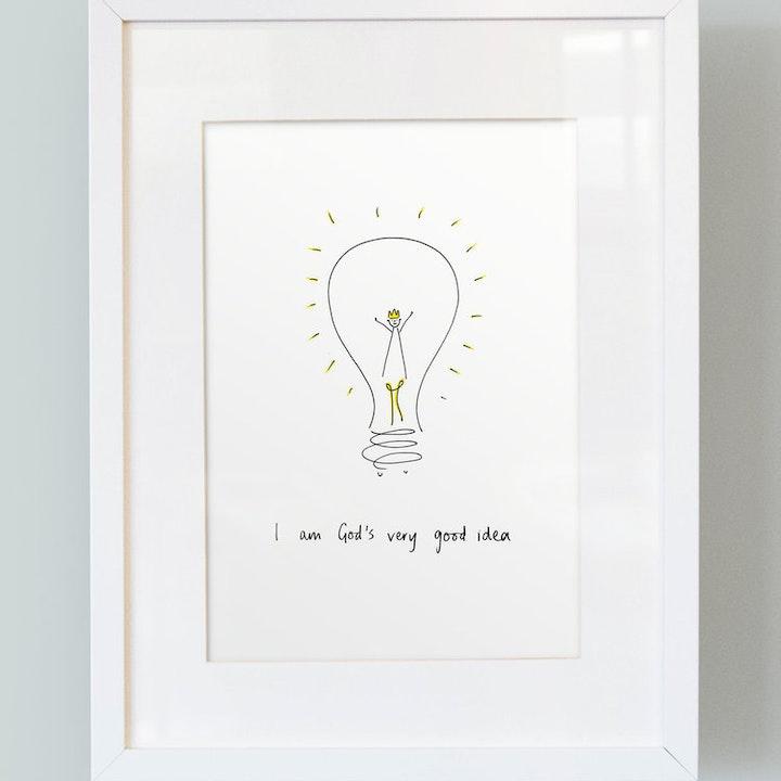 I Am God's Very Good Idea - Boys Print - SMT