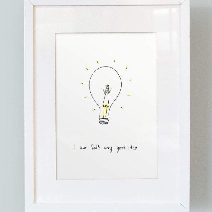 'I Am God's Very Good Idea' - Girl's Print - Thea Muir - So Many Things