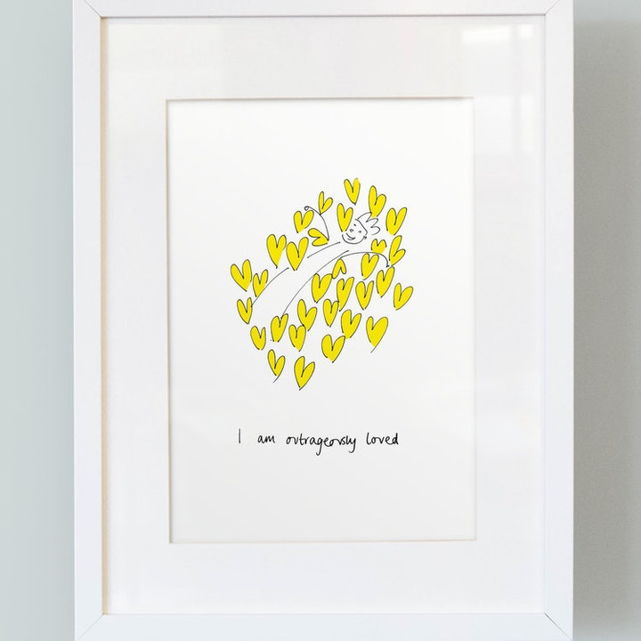 'I Am Outrageously Loved' Boy's Print - So Many Things