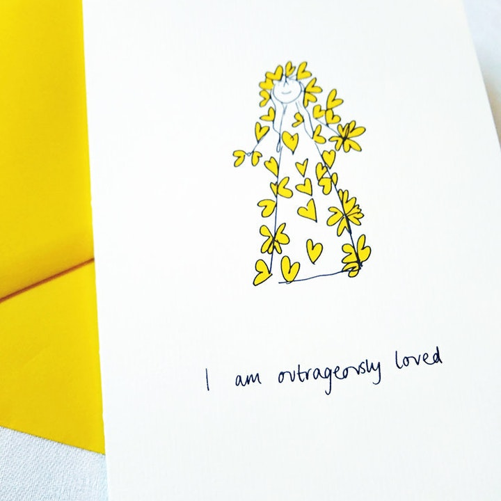 I Am Outrageously Loved Girls Greeting Card - SMT