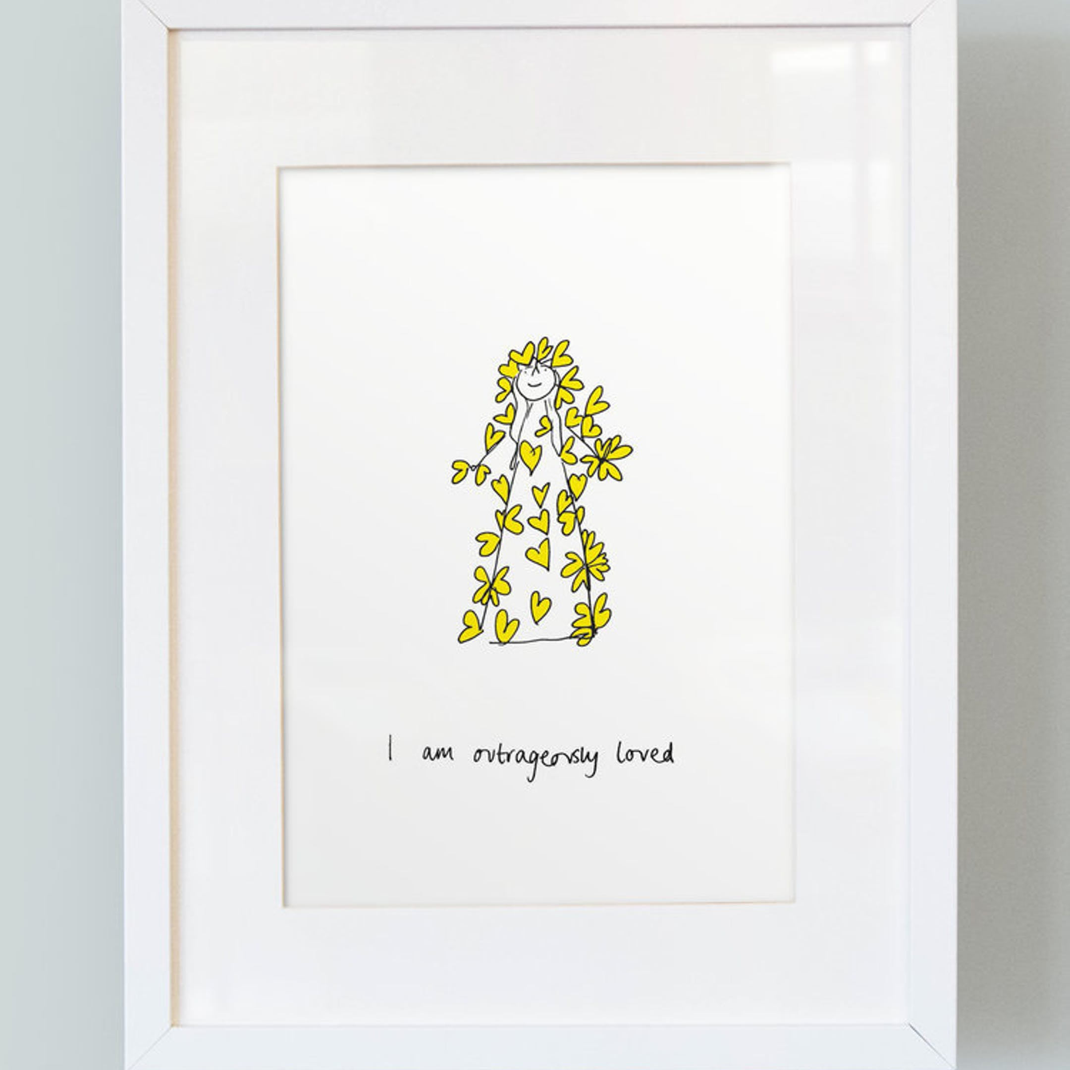 'I Am Outrageously Loved' -  Girl's Print - Thea Muir - So Many Things