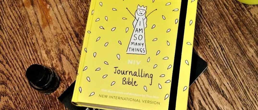 Yellow journaling Bible by I Am So Many Things