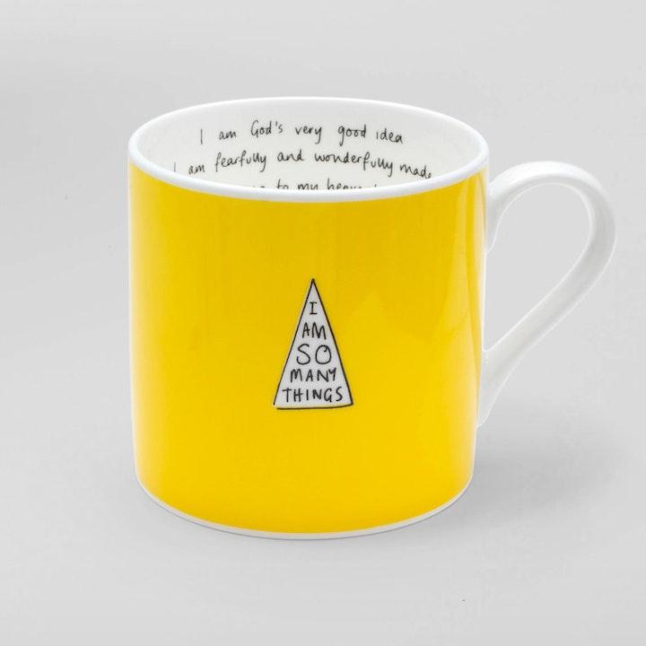 I Am So Many Things Mug - Yellow Mug  | I Am So Many Things | Cheerfully Given - Christian Gifts UK
