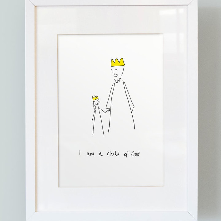 'I Am a Child of God' - Girl's Print - Thea Muir - So Many Things