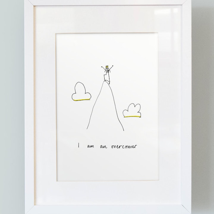 'I Am an Overcomer' - Girl's Print - So Many Things