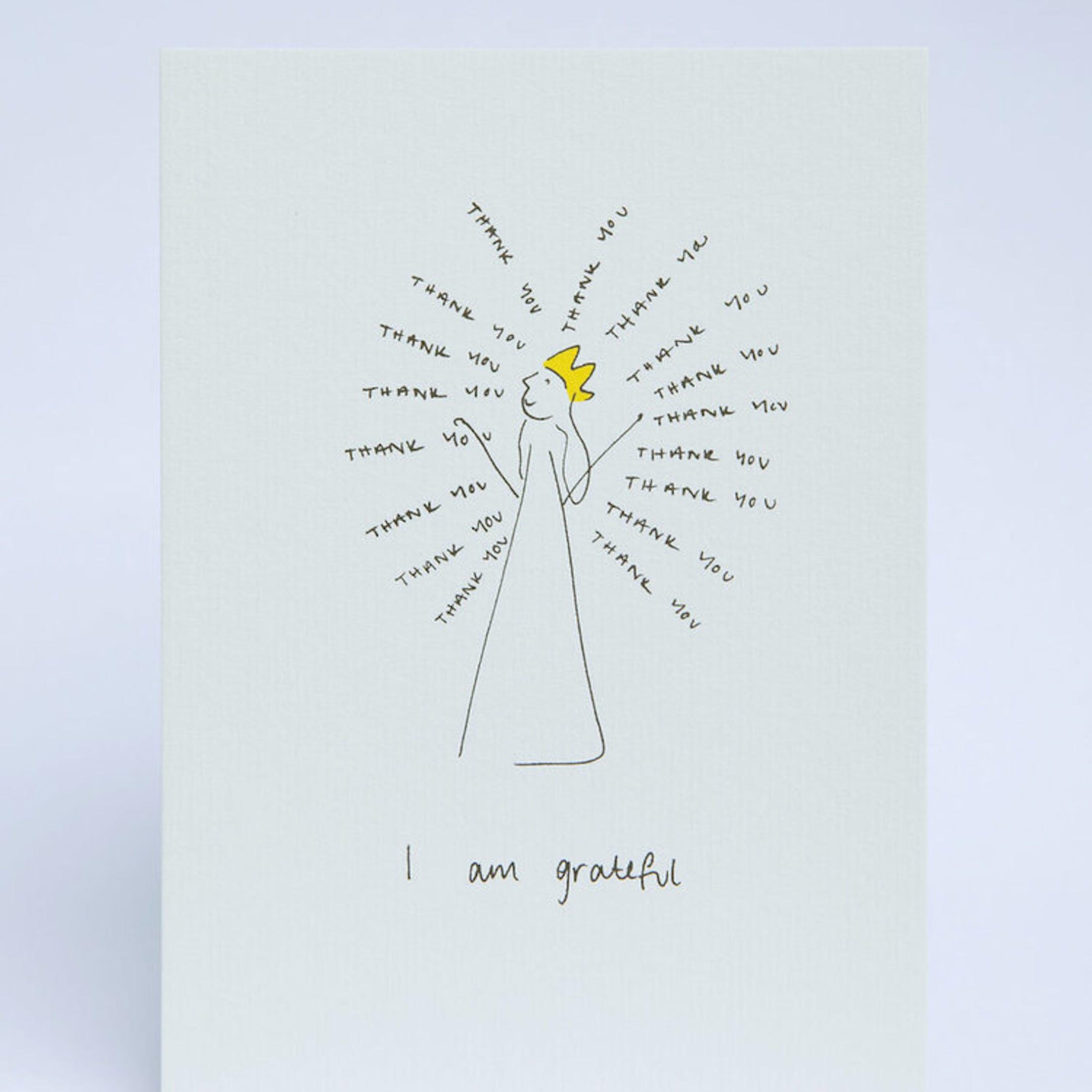 I am grateful POSTCARD - SMT