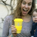 Mum holding Bamboo Travel Cup - I Am So Many Things - SMT