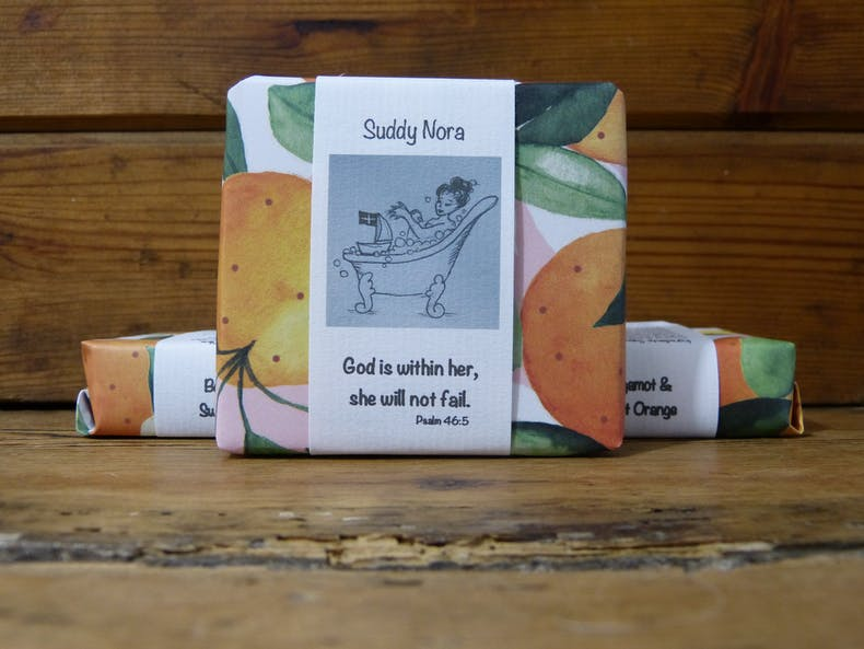 Bergamot & Sweet Orange Handcrafted Soap | Suddy Nora | Cheerfully Given - Christian Gifts UK