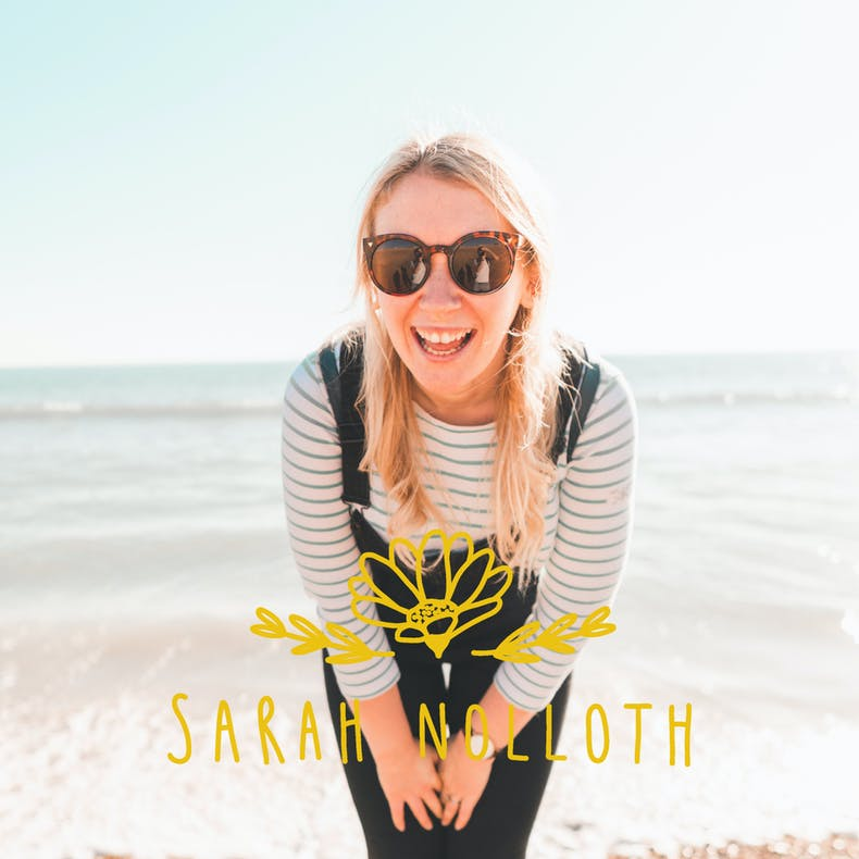 Sarah Noloth Illustration Head Shot at the Seaside | Cheerfully Given