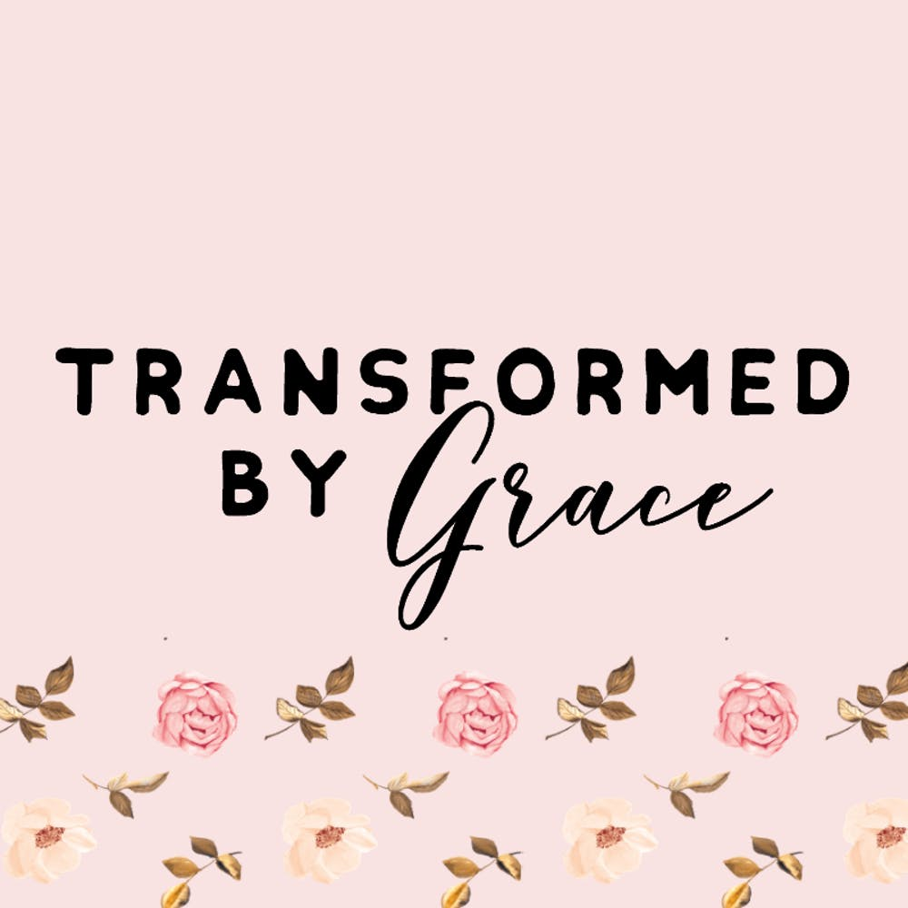 Emily Gornall of Transformed by Grace | Cheerfully Given - pink logo