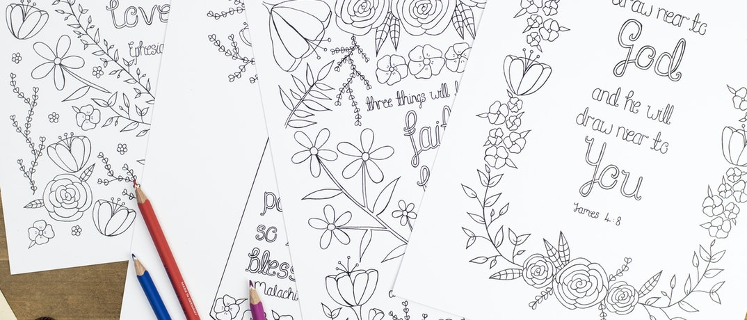 Christian Adult Colouring Pages | Treasured Creativity | Cheerfully Given - Christian Activities UK
