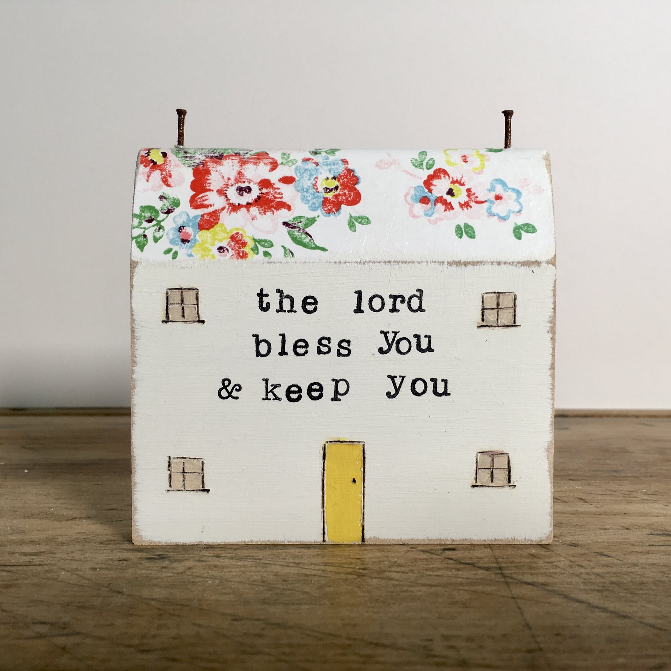 The Lord Bless You Shelf Sitter | The Pip House | Cheerfully Given - Personalised Homeware