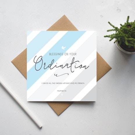 Creative christian gifts from uk designers makers cheerfully given blessings on your ordination card ordination gift philippians 413 bible verse card scripture card gc123 negle Image collections