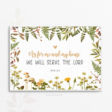 Christian new home cards cheerfully given as for me and my house we will serve the lord joshua 2415 bible verse christian gift scripture a4 unframed or mounted print j73 a4 m4hsunfo