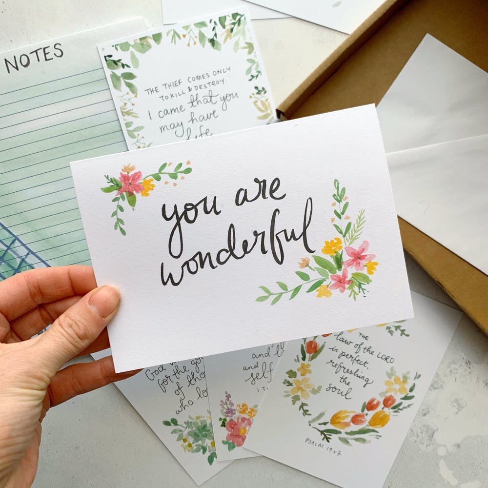 You are wonderful Christian Cards UK | Zoeprose | Zoe Powell @ Cheerfully Given