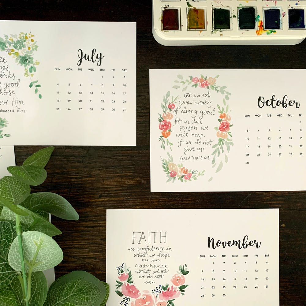 Zoeprose Calendar | Cheerfully Given