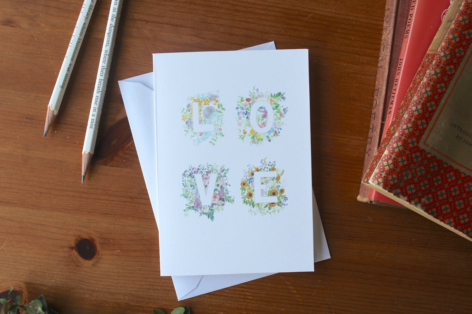 Love Floral Card | Zoeprose | Cheerfully Given