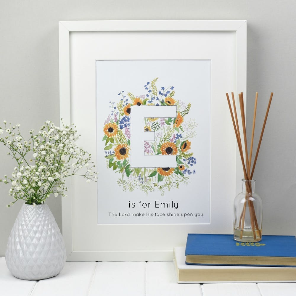 Personalised Alphabet Print Zoeprose | Zoe Powell | Cheerfully Given