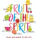 Colourful Kids Room Bible Verse Print - Galatians 5:22-23  - Nova Grace