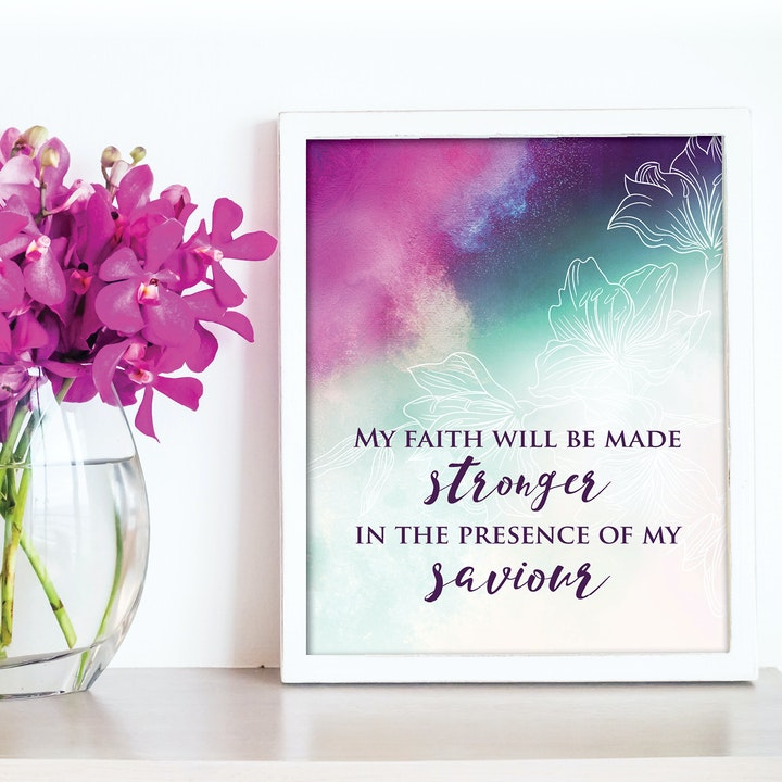 'In the presence of my Saviour' Print - Oceans by Hillsong - Nova Grace