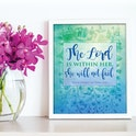 'The Lord is within her, she will not fail' Scripture Print - Psalm 46:5 - Nova Grace