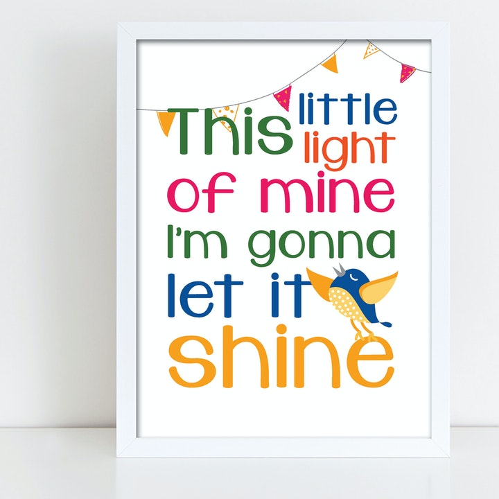 This Little Light of Mine Song Print - Nova Grace